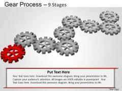 PowerPoint Design Growth Gears Process Ppt Design Slides