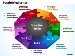 PowerPoint Design Growth Puzzle Mechanism Ppt Presentation