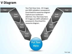 PowerPoint Design Growth V Diagram Ppt Template