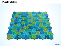 PowerPoint Design Image 11x11 Rectangular Jigsaw Puzzle Matrix Ppt Slide