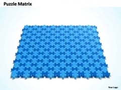 PowerPoint Design Image 16x15 Rectangular Jigsaw Puzzle Matrix Ppt Slides