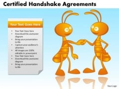 PowerPoint Design Image Certified Handshake Ppt Layout