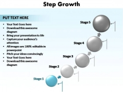 PowerPoint Design Leadership Step Growth Ppt Template