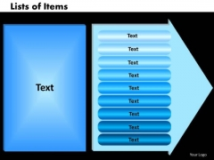 PowerPoint Design Lists Of Items Image Ppt Templates