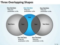 PowerPoint Design Marketing Three Overlapping Ppt Backgrounds