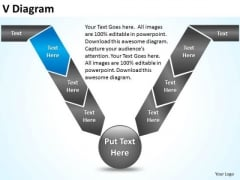 PowerPoint Design Marketing V Diagram Ppt Template