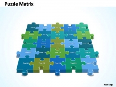 PowerPoint Design Process 5x5 Rectangular Jigsaw Puzzle Matrix Ppt Design