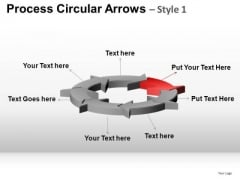 PowerPoint Design Process Business Success Circular Arrows Ppt Design