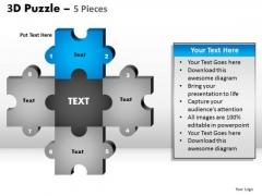 PowerPoint Design Process Puzzle Pieces Ppt Theme