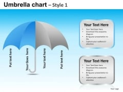 PowerPoint Design Slides Business Strategy Goals Umbrella Chart Ppt Slides