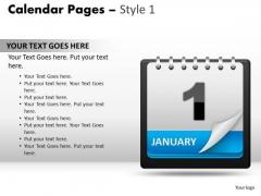 PowerPoint Design Slides Calendar 1 January Marketing Ppt Slide Designs