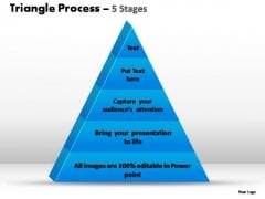 PowerPoint Design Slides Chart Triangle Process Ppt Theme