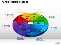 PowerPoint Design Slides Circle Puzzle Pieces Sales Ppt Slides