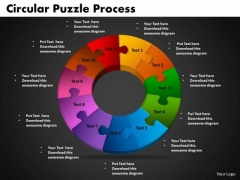 PowerPoint Design Slides Circular Puzzle Process Business Ppt Slide Designs