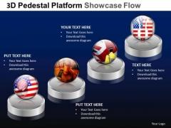 PowerPoint Design Slides Company Pedestal Platform Showcase Ppt Design