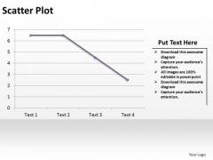 PowerPoint Design Slides Data Driven Scatter Plot Ppt Backgrounds