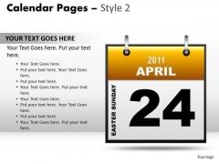 PowerPoint Design Slides Download Calendar 24 April Ppt Layouts