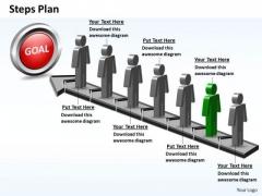 PowerPoint Design Slides Editable Steps Plan 7 Stages Style 5 Ppt Slide