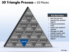 PowerPoint Design Slides Editable Triangle Process Ppt Design Slides