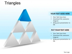 PowerPoint Design Slides Executive Competition Triangles Ppt Slides