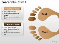 PowerPoint Design Slides Growth Footprints Ppt Slides