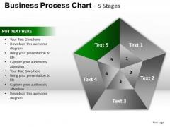 PowerPoint Design Slides Growth Pentagon Pie Chart Ppt Backgrounds