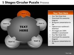 PowerPoint Design Slides Growth Stages Circular Puzzle Ppt Slides