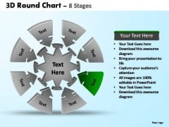 PowerPoint Design Slides Image Pie Chart With Arrows Ppt Slide