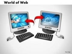 PowerPoint Design Slides Leadership World Of Web Ppt Template