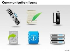 PowerPoint Design Slides Marketing Communication Icons Ppt Slides