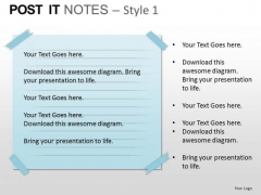 PowerPoint Design Slides Marketing Post It Notes Ppt Designs
