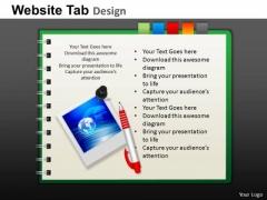 PowerPoint Design Slides Marketing Website Ppt Themes
