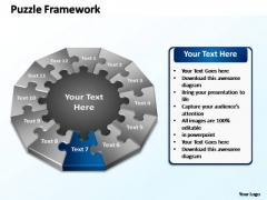PowerPoint Design Slides Process Puzzle Framework Ppt Themes