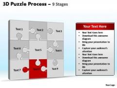 PowerPoint Design Slides Process Puzzle Process Ppt Template