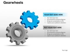 PowerPoint Design Slides Strategy Gear Wheel Ppt Layout