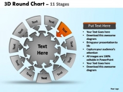 PowerPoint Design Slides Strategy Pie Chart With Arrows Ppt Template