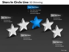 PowerPoint Design Slides Strategy Stars In Circle Ppt Process