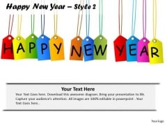 PowerPoint Design Slides Success Happy New Year Ppt Template