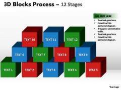 PowerPoint Design Slides Teamwork Blocks Process Ppt Design