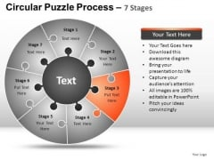 PowerPoint Design Slides Teamwork Circular Puzzle Ppt Process