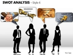 PowerPoint Design Slides Teamwork Swot Analysis Ppt Templates