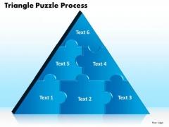 PowerPoint Design Slides Triangle Puzzle Graphic Ppt Presentation