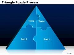 PowerPoint Design Slides Triangle Puzzle Process Ppt Designs
