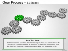 PowerPoint Design Strategy Gears Process Ppt Template