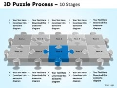 PowerPoint Design Strategy Puzzle Process Ppt Backgrounds