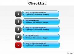 PowerPoint Design Strategy Slides Checklist Ppt Slides