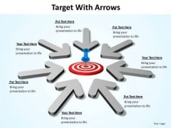 PowerPoint Design Target With Arrows Ppt Design