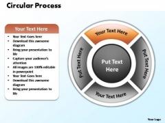 PowerPoint Design Teamwork Circular Process Ppt Theme