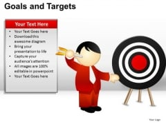 PowerPoint Design Teamwork Goals And Targets Ppt Layout