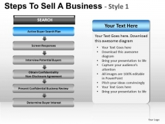 PowerPoint Design Teamwork Steps To Sell Ppt Layout